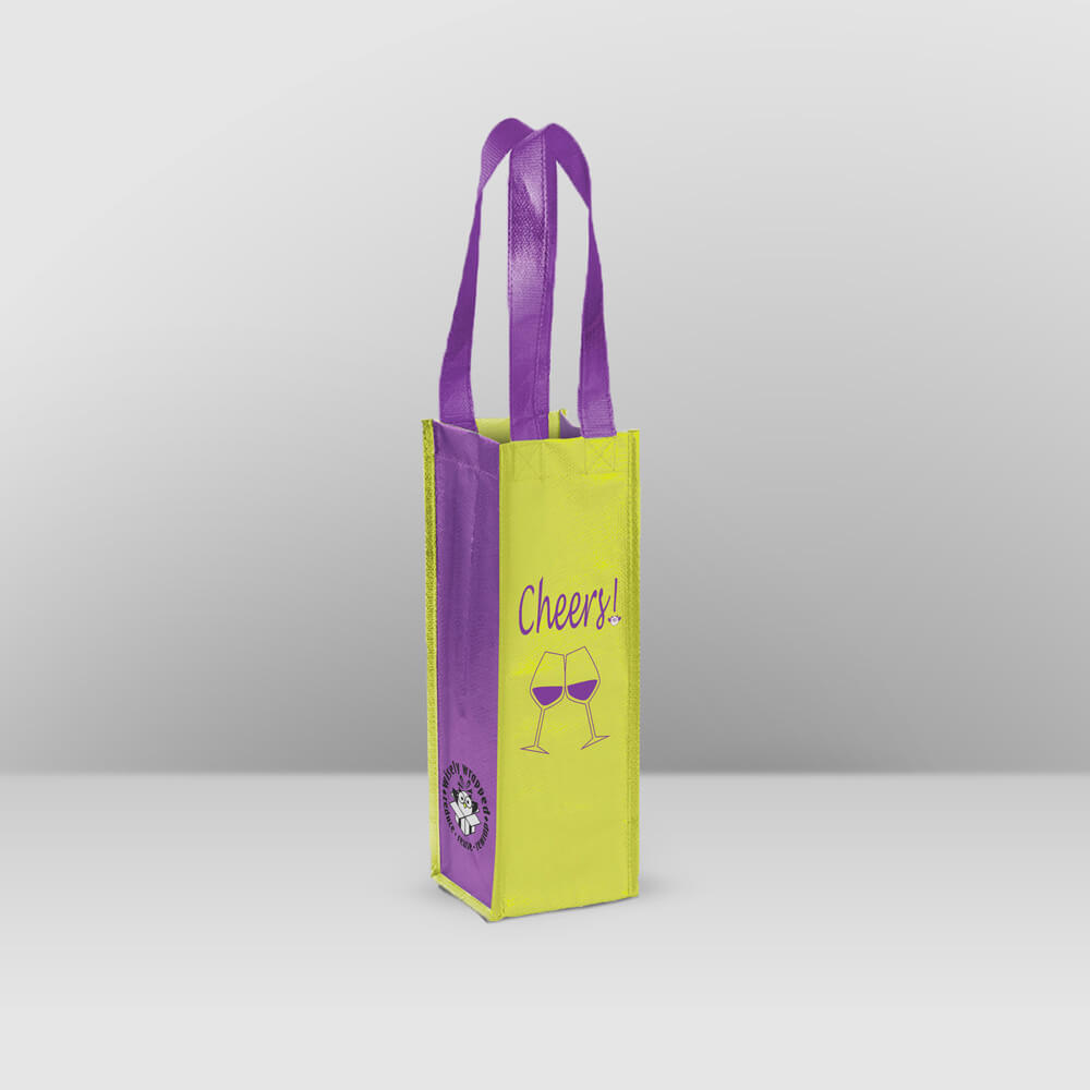 reusable wine bag purple Cheers!