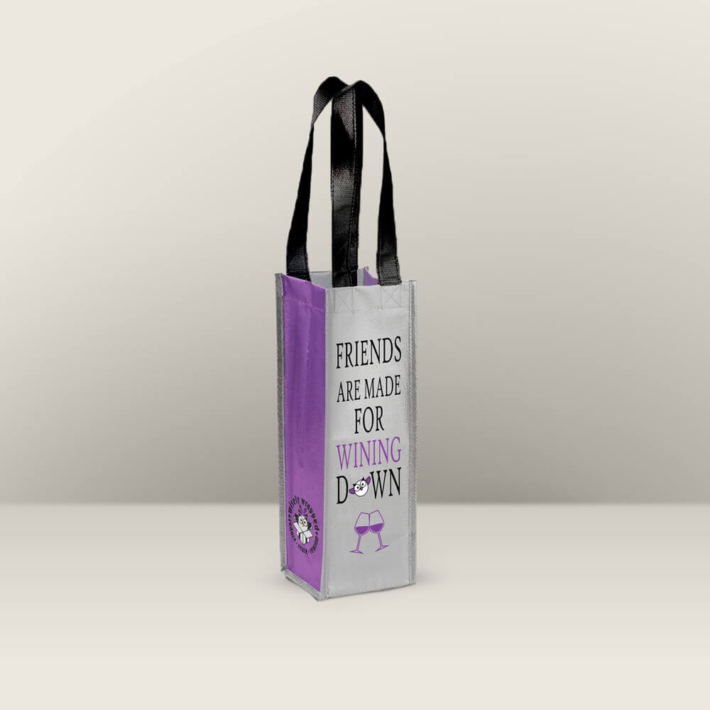 wining down reusable wine bag