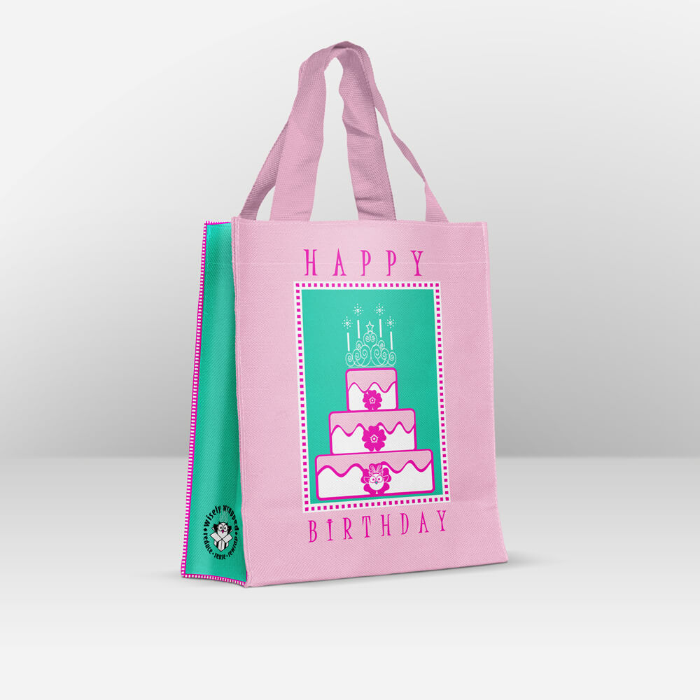 happy birthday reusable gift bag